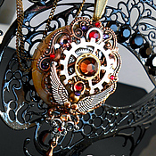 Субкультуры ручной работы. Ярмарка Мастеров - ручная работа Стимпанк кулон, медальон, кулон в стиле стимпанк/ Steampunk. Handmade.