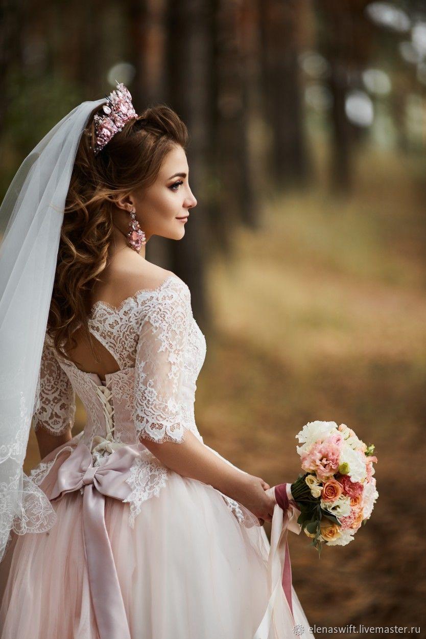"""Корона и серьги """"Валерия"""" в розовом цвете, Комплекты украшений, Энгельс,  Фото №1"""