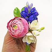 Свадебный салон ручной работы. Ярмарка Мастеров - ручная работа Бутоньерка с ранункулюсом из полимерной глины. Handmade.
