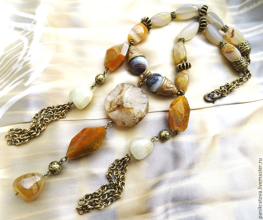 Necklace 'Goddess Diana' (agate), Necklace, Moscow,  Фото №1