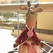 Куклы и игрушки ручной работы. Ярмарка Мастеров - ручная работа Тильда жираф. Handmade.