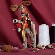 Куклы и игрушки ручной работы. Ярмарка Мастеров - ручная работа Мышь Аскольд-портной. Handmade.