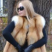 Одежда handmade. Livemaster - original item Vest of red Fox Siberian. Solid.. Handmade.