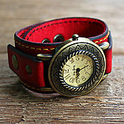 """Украшения ручной работы. Ярмарка Мастеров - ручная работа Часы наручные в стиле винтаж """"Red Sun"""". Handmade."""