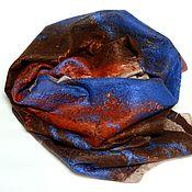 Аксессуары handmade. Livemaster - original item scarf felted Laguna. Handmade.