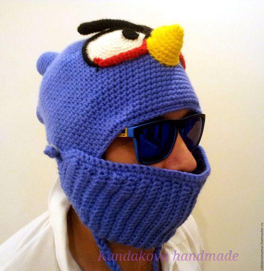 """Шапки ручной работы. Ярмарка Мастеров - ручная работа. Купить Шапка для сноуборда """"Angry Bird"""". Handmade. Синий, angry birds"""