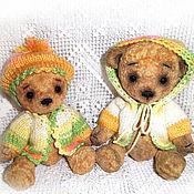 """Куклы и игрушки ручной работы. Ярмарка Мастеров - ручная работа """"Яна+Яша"""" 16, 18см Мишки из винтажного плюша. Handmade."""