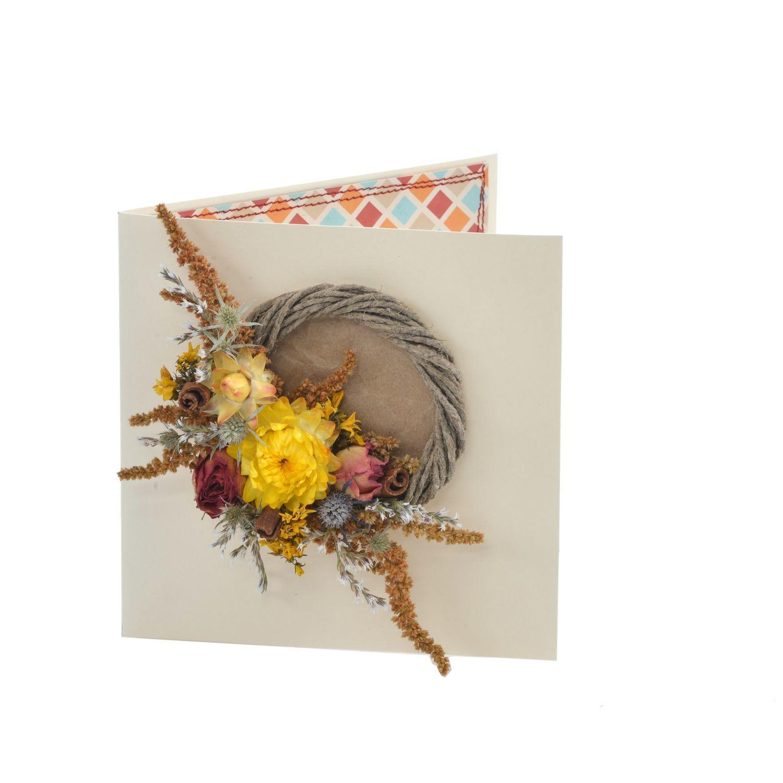 открытки из сухоцветов ручная работа машину