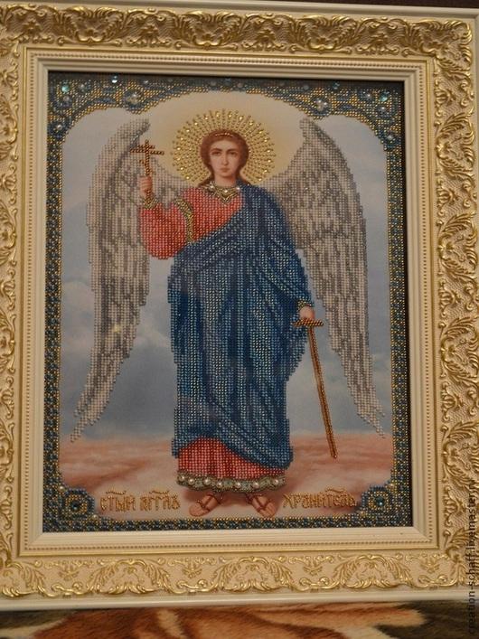 Иконы ручной работы. Ярмарка Мастеров - ручная работа. Купить Ангел Хранитель. Handmade. Иконы из бисера, ангел-хранитель