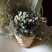 Цветы и флористика ручной работы. Ярмарка Мастеров - ручная работа Букет лаванды в корзине. Handmade.