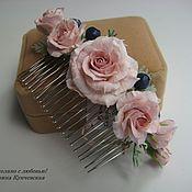 Украшения ручной работы. Ярмарка Мастеров - ручная работа Гребень с розами в прическу. Handmade.