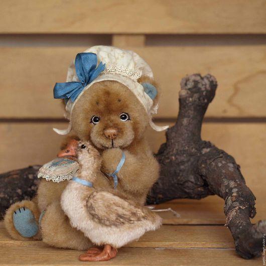 Мишки Тедди ручной работы. Ярмарка Мастеров - ручная работа. Купить Фрося и Гуся (12.5см и 6,5см). Handmade.