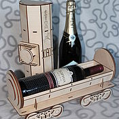 Сувениры и подарки ручной работы. Ярмарка Мастеров - ручная работа Подарочная упаковка для бутылки. Handmade.