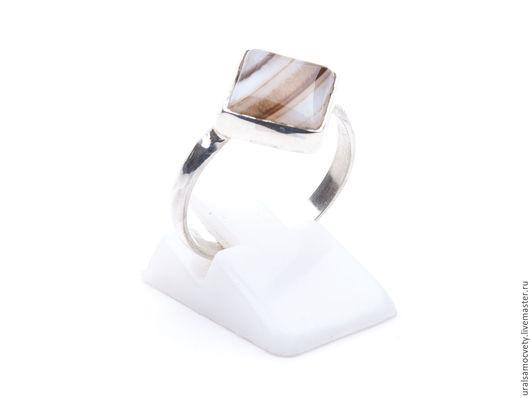 Кольца ручной работы. Ярмарка Мастеров - ручная работа. Купить Агатовое колечко из серебра. Handmade. Красивый камень, уральские камни