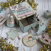Подарки к праздникам handmade. Livemaster - original item Box Christmas toy Merry Cristmas. Box decoupage. Handmade.