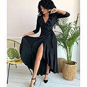 Платья ручной работы. Ярмарка Мастеров - ручная работа Платье халат с запАхом. Handmade.