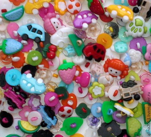 пуговицы пластиковые детские микс