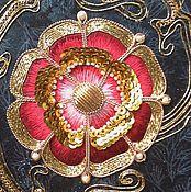 """Украшения ручной работы. Ярмарка Мастеров - ручная работа Вышивка золотом """"Королевская Роза """". Handmade."""