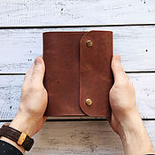 Канцелярские товары handmade. Livemaster - original item Notepad leather rings. Handmade.