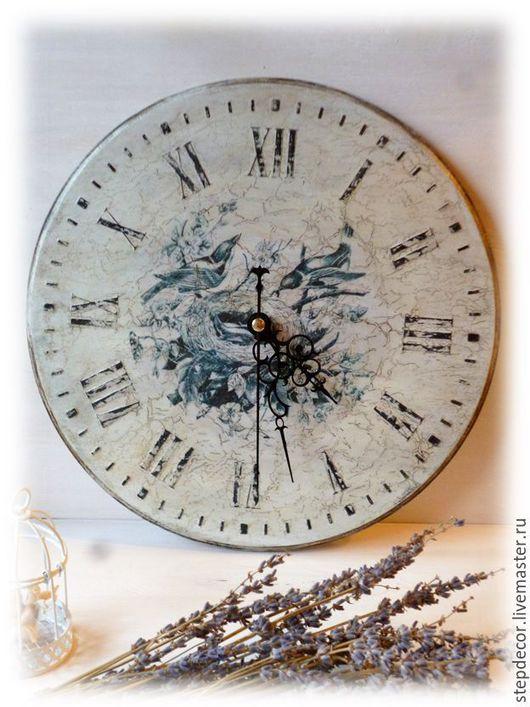 """Часы для дома ручной работы. Ярмарка Мастеров - ручная работа. Купить Часы настенные """"Винтаж"""". Handmade. Белый, французский стиль"""