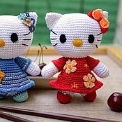 Куклы и игрушки ручной работы. Ярмарка Мастеров - ручная работа Хелло Китти и Мими. Handmade.