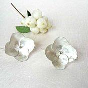Украшения handmade. Livemaster - original item Earrings made of silver and copper