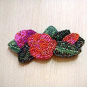 Украшения ручной работы. Ярмарка Мастеров - ручная работа браслет с вышитой розой. Handmade.