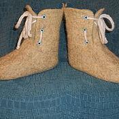 """Обувь ручной работы. Ярмарка Мастеров - ручная работа Валенки детские """"Морские"""". Handmade."""