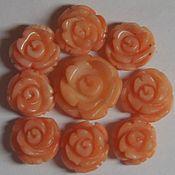 handmade. Livemaster - original item Mother of pearl pale pink carved rose polyvalency. Handmade.