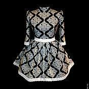 """Одежда ручной работы. Ярмарка Мастеров - ручная работа Платье """"Камили"""" с подбором рис и белым кружевом. Handmade."""
