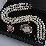 Украшения handmade. Livemaster - original item Pearls Necklace Choker DAMA IN WHITE handmade author`s work. Handmade.