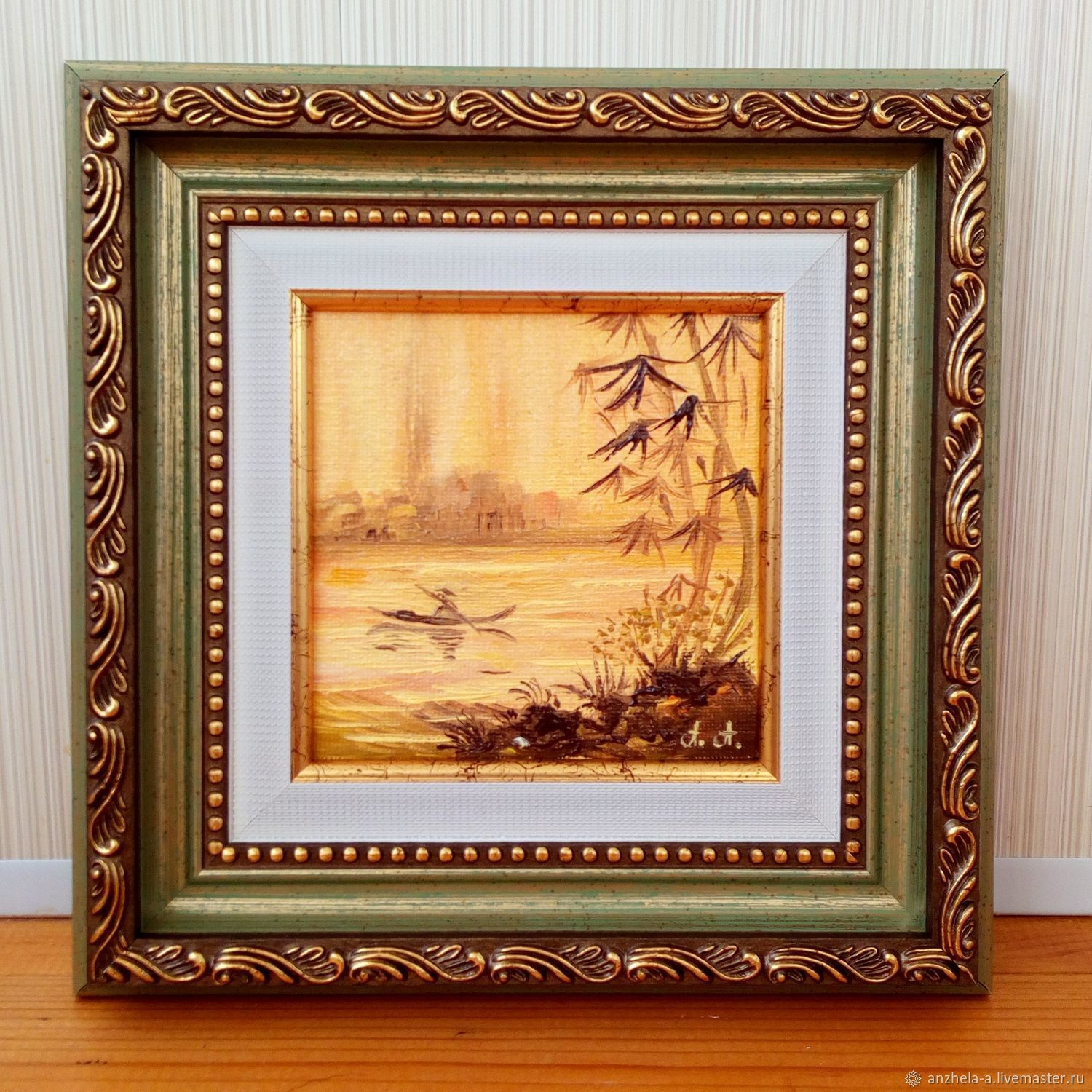 East oil miniature ' Sunny East. fishing', Pictures, Moscow,  Фото №1