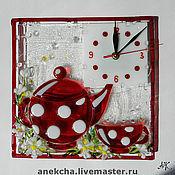"""Часы классические ручной работы. Ярмарка Мастеров - ручная работа Часы """"Ромашковый чай"""". Handmade."""
