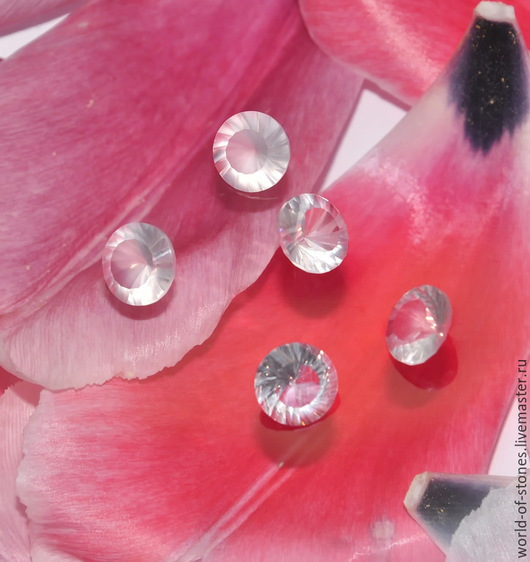 """Для украшений ручной работы. Ярмарка Мастеров - ручная работа. Купить Розовый кварц круг, """"Водоворот"""" 10. Handmade."""