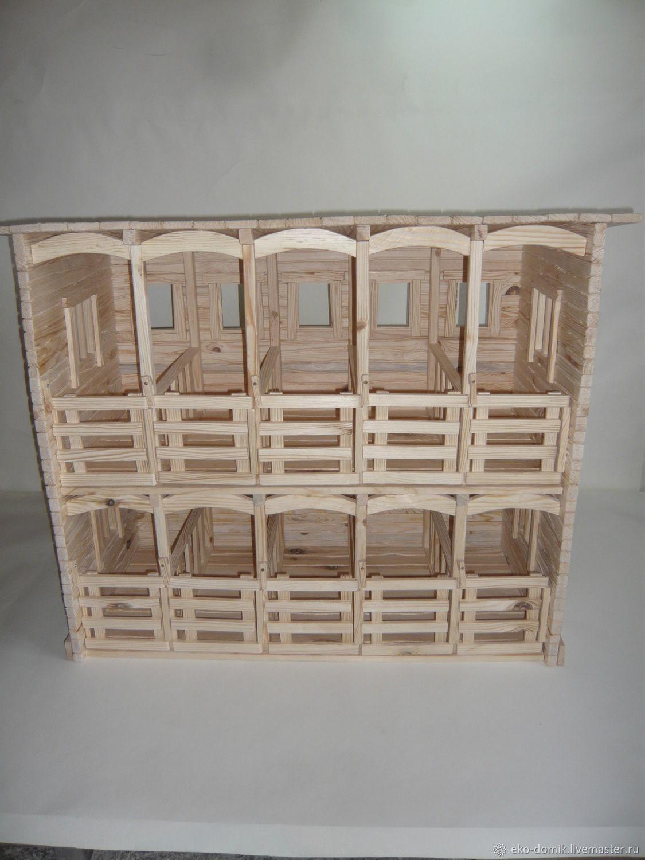 Конюшня на 10 лошадок 2-х этажная, Кукольные домики, Липецк,  Фото №1