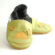 Работы для детей, handmade. Livemaster - original item Baby Shoes, Leather Baby Shoes, Newborn Shoes,Space Saturn. Handmade.
