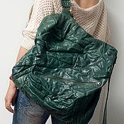 Сумки и аксессуары handmade. Livemaster - original item Backpack, genuine leather, Emerald backpack