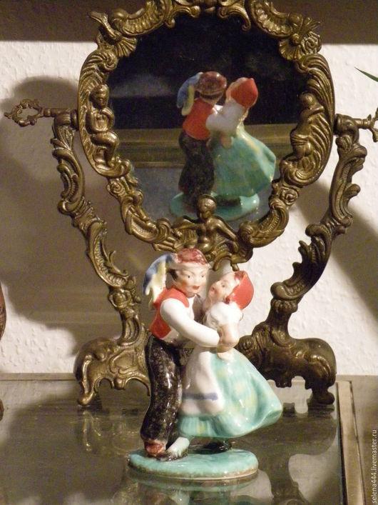 Винтажные предметы интерьера. Ярмарка Мастеров - ручная работа. Купить Танцующая пара Чешская фарфоровая статуэтка. Handmade. Чешский фарфор