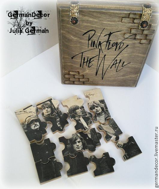 """Подарочные наборы ручной работы. Ярмарка Мастеров - ручная работа. Купить Сувенирные пазлы """"Pink Floyd - The Wall"""". Handmade."""