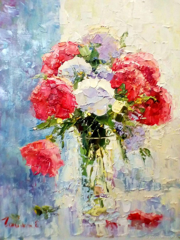 Букет с красными цветами, Картины, Москва, Фото №1