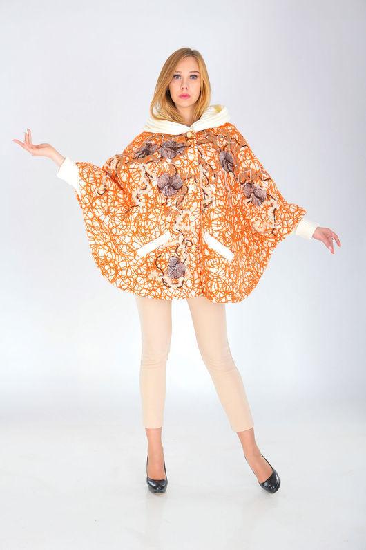 Верхняя одежда ручной работы. Ярмарка Мастеров - ручная работа. Купить ПЧ 44. Handmade. Оранжевый, пальто демисезонное, Валяние
