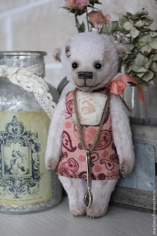 Мишки Тедди ручной работы. Ярмарка Мастеров - ручная работа. Купить Беата, 17 см. Handmade. Бледно-сиреневый, тедди