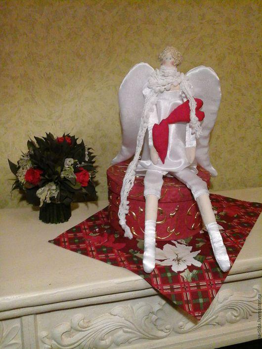 Куклы Тильды ручной работы. Ярмарка Мастеров - ручная работа. Купить Интерьерная кукла - Сердечный ангел, 48 см. Handmade.