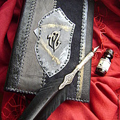Канцелярские товары handmade. Livemaster - original item Diary in leather cover of