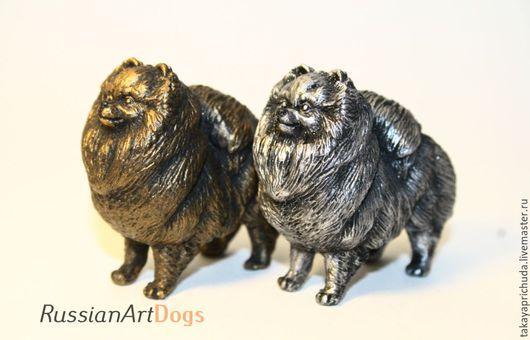 Статуэтки ручной работы. Ярмарка Мастеров - ручная работа. Купить Померанский шпиц   - статуэтка (оловянная фигурка собаки). Handmade. статуэтка