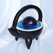 """Посуда ручной работы. Ярмарка Мастеров - ручная работа Чайник """"Норвежские фьорды"""". Handmade."""