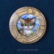 """Картины и панно ручной работы. Ярмарка Мастеров - ручная работа """"Котик"""". Handmade."""