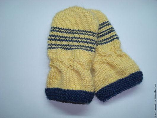 Для новорожденных, ручной работы. Ярмарка Мастеров - ручная работа. Купить Варежки для малыша (0-12 мес.). Handmade.