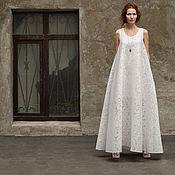 Одежда ручной работы. Ярмарка Мастеров - ручная работа Свадебное платье-майка в пол. Handmade.