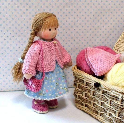 Вальдорфская игрушка ручной работы. Ярмарка Мастеров - ручная работа. Купить Куколка для Нины, 23 см. Handmade. Бледно-розовый